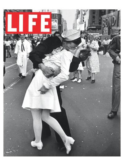 LIFE VJ Day Soldier Kissing girl--Art Print