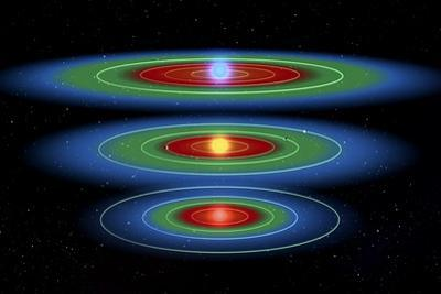 Life Zones Around Three Stars, Artwork