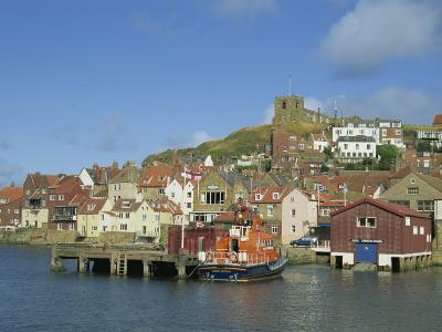 Lifeboat, Harbour and Church, Whitby, North Yorkshire, England, United Kingdom, Europe-Hunter David-Photographic Print