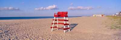 Lifeguard Chair at the Beach in Morning, Cape May, New Jersey--Photographic Print