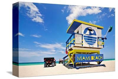 Lifeguard House Miami Beach--Stretched Canvas Print