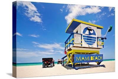 Lifeguard House Miami Beach--Stretched Canvas Print