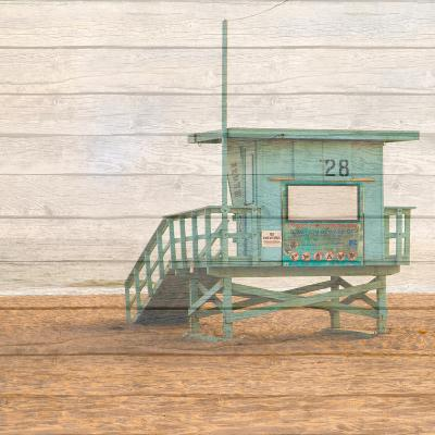 Lifeguard House on Wood-Susan Bryant-Photographic Print
