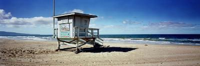 Lifeguard Hut on the Beach, 8th Street Lifeguard Station, Manhattan Beach, Los Angeles County, C...--Photographic Print