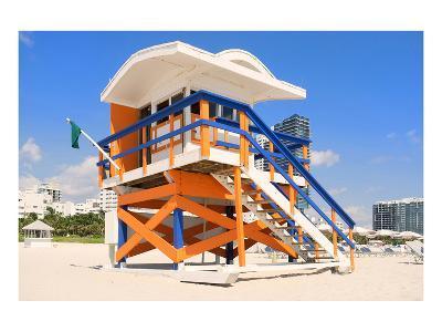 Lifeguard Hut South Beach FL--Art Print