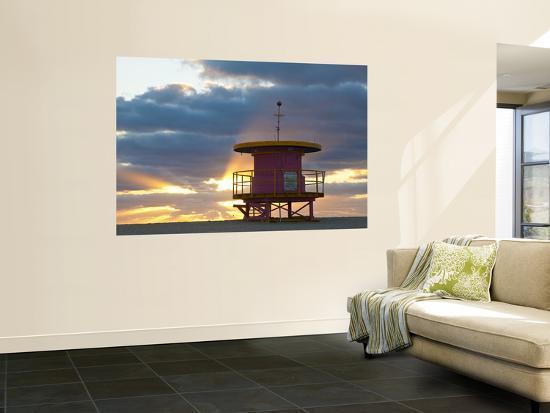 Lifeguard Hut, South Beach, Miami, Florida, Usa-Peter Adams-Wall Mural