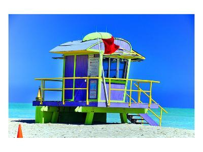 Lifeguard Station Miami Beach--Art Print