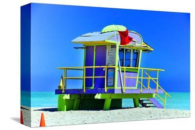 Lifeguard Station Miami Beach--Stretched Canvas Print