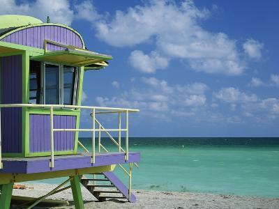 Lifeguard Tower Along South Beach-James Randklev-Photographic Print