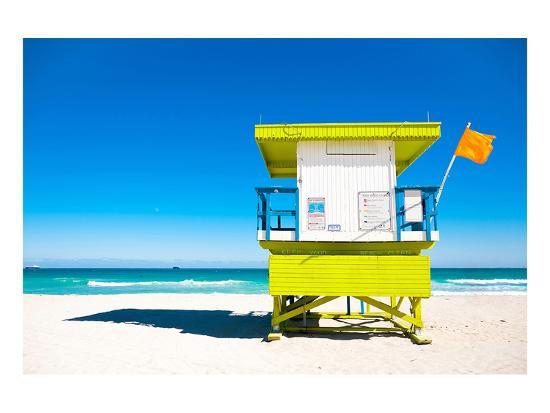 04e26d80e002 Lifeguard Tower South Beach FL Art Print by