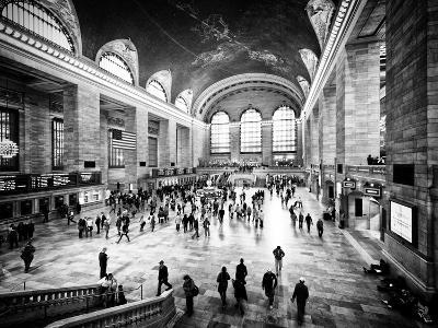 Lifestyle Instant, Grand Central Terminal, Black and White Photography Vintage, Manhattan, NYC, US-Philippe Hugonnard-Photographic Print