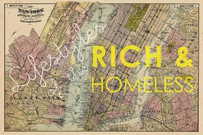 Lifestyles of the Rich & Homeless - 1891, New York, Brooklyn, & Jersey City Map--Giclee Print