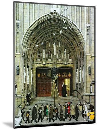 Lift Up Thine Eyes-Norman Rockwell-Mounted Giclee Print