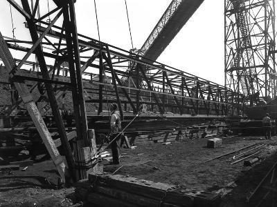 Lifting a Conveyor Bridge, Manvers Coal Preparation Plant, Near Rotherham, South Yorkshire, 1956-Michael Walters-Photographic Print