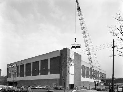 Lifting Heat Exchangers into Place, Silver Blades Ice Rink, Sheffield, South Yorkshire, 1966-Michael Walters-Photographic Print