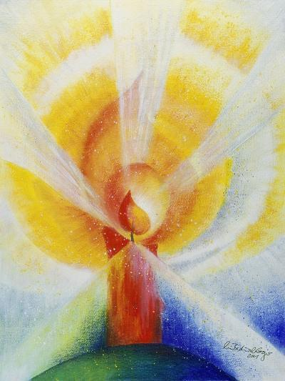 Light and Burning Candle, 2001-Annette Bartusch-Goger-Giclee Print