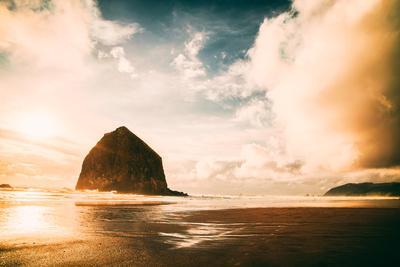Light and Cloud Magic at Haystack Rock, Cannon Beach, Oregon Coast-Vincent James-Photographic Print