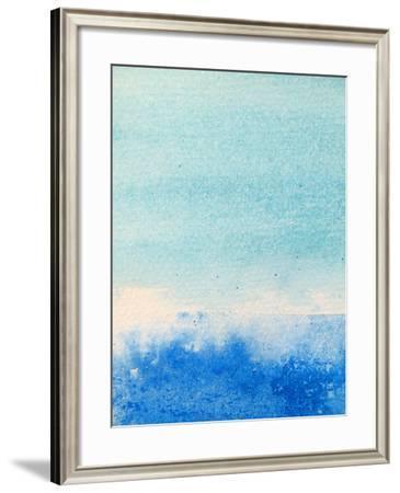 Light and Dark Blue Watercolor Background 2-Kathie Nichols-Framed Art Print