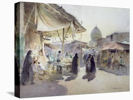 Light and Shade, Shiraz Bazaar, 1994-Trevor Chamberlain-Stretched Canvas Print