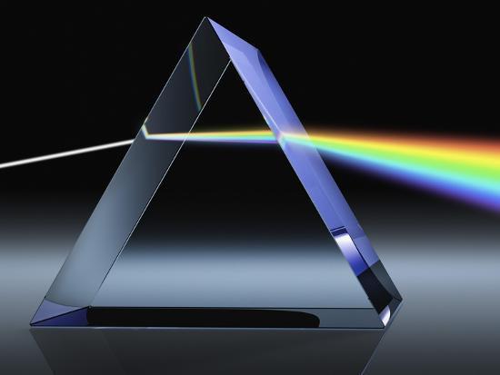 Light Beam Through Glass Prism-Matthias Kulka-Giclee Print