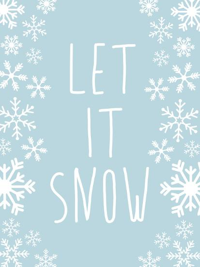 Light Blue Let It Snow-Jetty Printables-Art Print