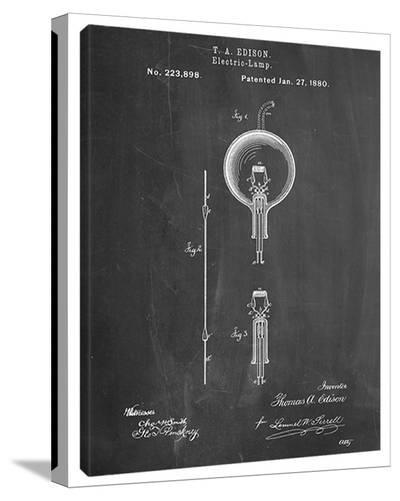 Light Bulb Edison-Cole Borders-Stretched Canvas Print