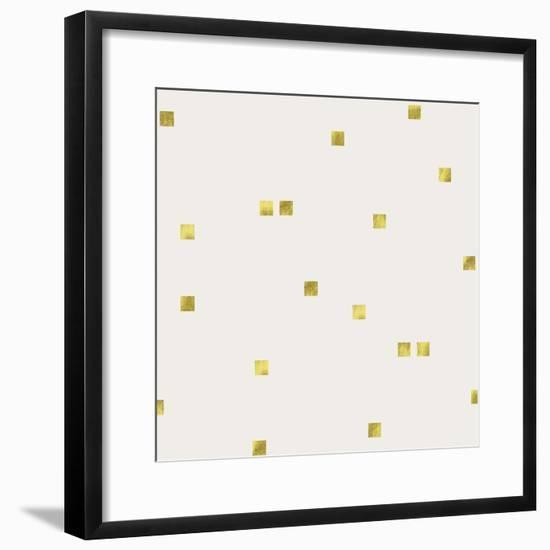 Light Cream Golden Squares Confetti-Tina Lavoie-Framed Giclee Print