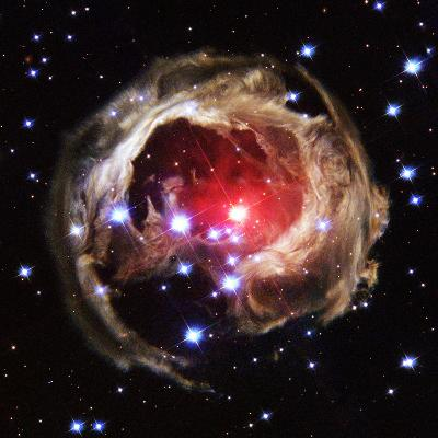 Light Echoes From Exploding Star--Photographic Print