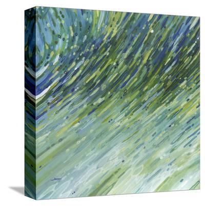 Light Glimmering Waves (left)-Margaret Juul-Stretched Canvas Print