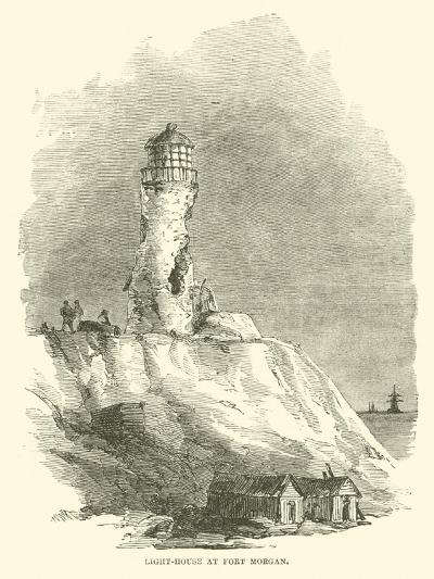 Light-House at Fort Morgan, August 1864--Giclee Print