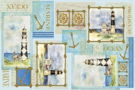 Light House Border-Maria Trad-Giclee Print