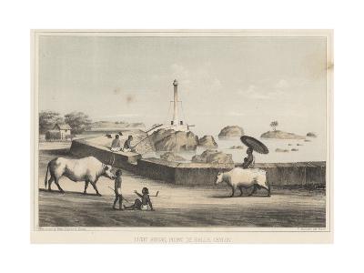 Light House, Point De Galle, Ceylon, 1855-Wilhelm Joseph Heine-Giclee Print
