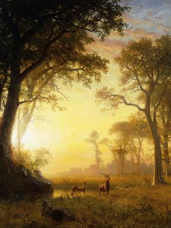 Light in the Forest-Albert Bierstadt-Giclee Print