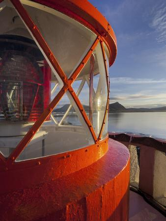Light in the Lighthouse of Akranes (Town), West Iceland, Iceland-Rainer Mirau-Photographic Print