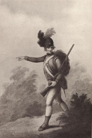 'Light Infantry Man (1791)', 1791 (1909)-Francois David Soiron-Giclee Print