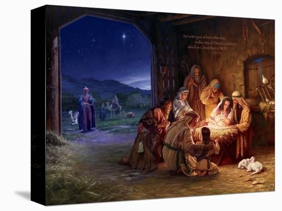 Light of the World - Saviour-Mark Missman-Stretched Canvas Print