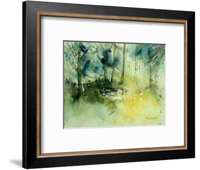 Light on a Pond in a Wood-Pol Ledent-Framed Art Print