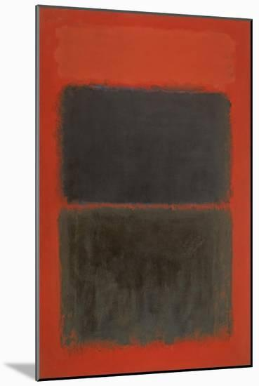 Light Red Over Black-Mark Rothko-Mounted Premium Giclee Print