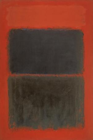 Light Red Over Black-Mark Rothko-Giclee Print