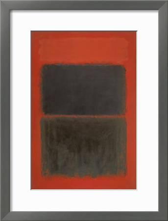 Mark ROTHKO Light Red Over Black Color Field Poster 32-3//4 x 23