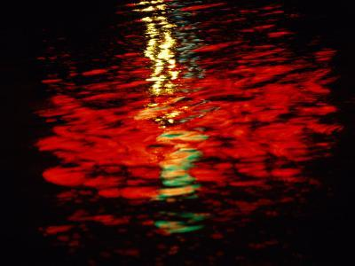 Light Reflected in the Water at Night-Raymond Gehman-Photographic Print