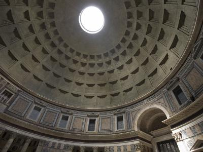 Light Shines Down from the Oculus in the Dome of the Pantheon-Scott Warren-Photographic Print