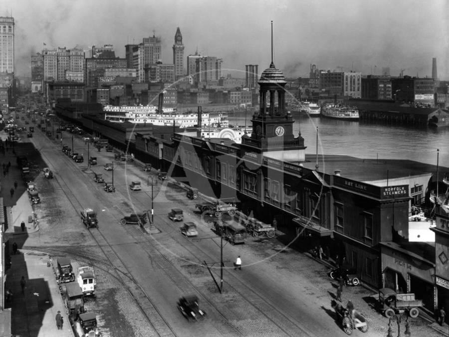 Light Street, Baltimore, Maryland 1924 Photographic Print by | Art com