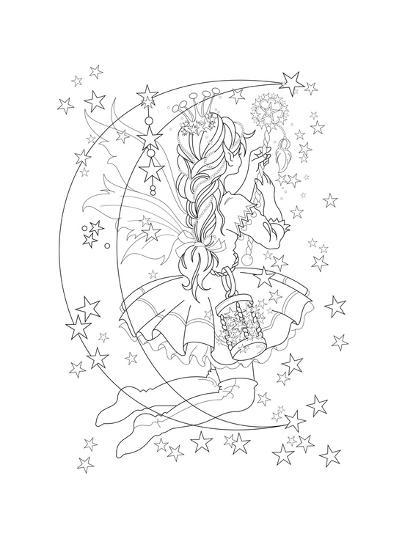 Light The Stars Lineart-Karen Middleton-Giclee Print