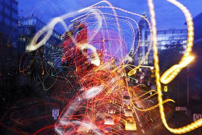 Light Trails, Traffic, Abstract, Dynamic, Rush-Hour Traffic-Axel Schmies-Photographic Print