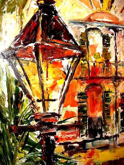 Light up the French Quarter!-Diane Millsap-Art Print