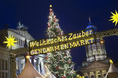 Lighted Sign at Gendarmenmarkt Christmas Market-Jon Hicks-Photographic Print