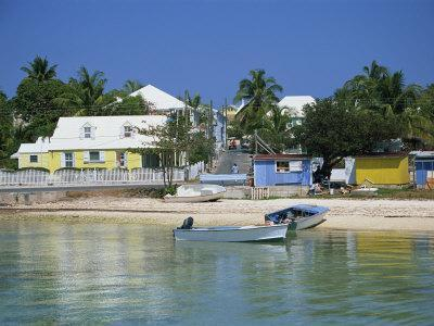 Waterfront and Beach, Dunmore Town, Harbour Island, Bahamas, West Indies, Central America