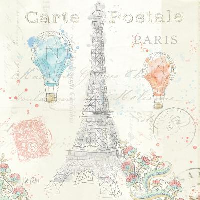 Lighthearted in Paris V-Katie Pertiet-Art Print