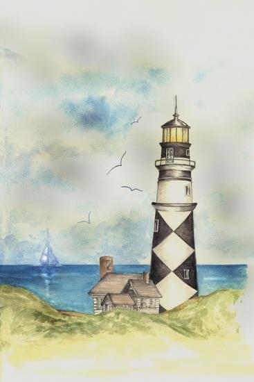 Lighthouse 01A-Maria Trad-Giclee Print